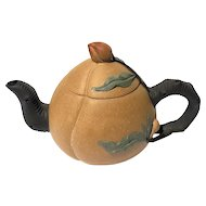 Early Vintage Signed Chinese Yixing Pottery Teapot