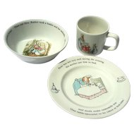 Wedgwood Peter Rabbit Three Piece Child's Set