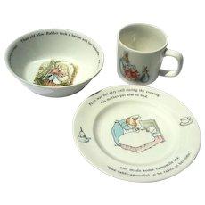 Wedgwood Peter Rabbit Three Piece Child's Set