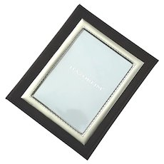 Italian Leather And Sterling Silver Photo Album Picture Frame By Hazorfim