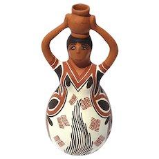 Vintage Native American Figural Pottery Vase