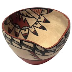 Vintage Signed Native American Pottery Bowl