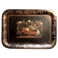 19th Century Victorian Large Metal Tole Tray