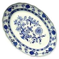 Large 19th Century Staffordshire Blue Onion Transferware Platter