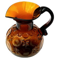 19th Century EAPG Central Glass Pitcher