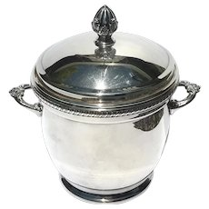 Vintage Hallmarked Forbes Silverplated Mercury Glass Lined Ice Bucket