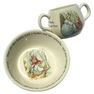 Wedgwood Peter Rabbit Two Piece Child's Bowl & Mug Set