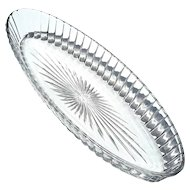 Early Vintage Signed Heisey Glass Long Oval Bowl