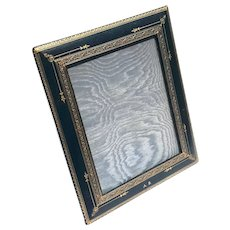 Vintage Italian Gilt Embossed Leather Picture Frame