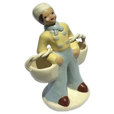 Mid-Century Vintage Signed Kaye Of Hollywood Pottery Figure