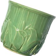 Vintage McCoy Pottery Matte Green Calla Lilly Jardiniere
