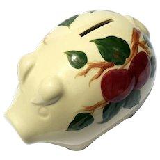 Vintage Franciscan Pottery Apple Piggy Bank