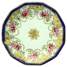 Vintage Signed Japanese Hand-Painted Nippon Serving Plate