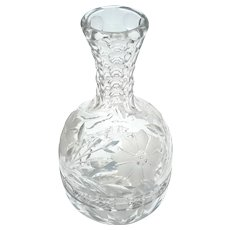 Early Vintage Cut Crystal Wine Bottle Decanter