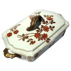 Antique French Limoges Porcelain Tureen
