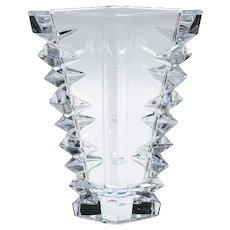 Large Signed Lenox Crystal Delta Vase