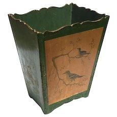 Vintage Italian Florentine Wooden Waste Can