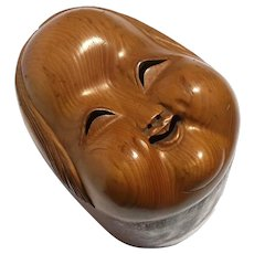 Japanese Noh Theater Inspired Wooden Mask Box