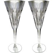 Waterford Crystal Millineum Love Heart Toasting Flutes