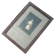 Antique Framed Photograph Of A Child