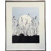 Signed Richard Ehrlich Original Artist Proof Serigraph Titled Still Air