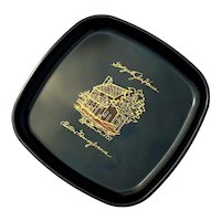 Vintage Couroc Of Monterey Historic George Taylor House Tray