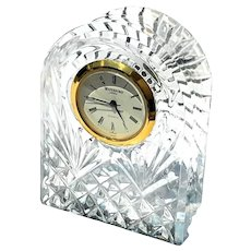 Signed Waterford Cut Crystal Clock
