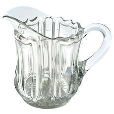 Antique Signed Heisey Glass Juice Pitcher