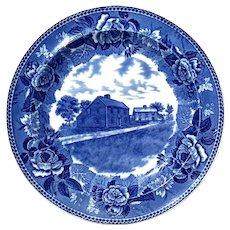 Antique Wedgwood Blue & White Transferware Plate