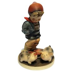 Vintage Farm Boy With Piglets Hummel Figurine