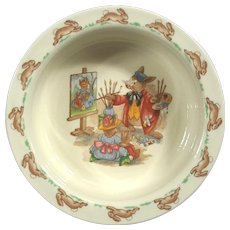 Vintage Royal Doulton Bunnykins Porcelain Child's Bowl