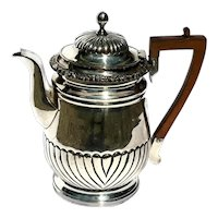 Early 19th Century Sheffield Silverplate Teapot With Wooden Handle, Circa 1800