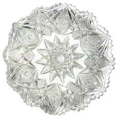 Antique Brilliant Cut Glass Dish