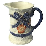 Antique Staffordshire Pottery Pitcher