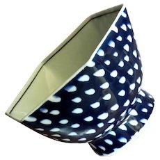 Vintage Signed Asian Blue & White Porcelain Bowl