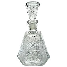 Early Vintage Brilliant Cut Crystal Decanter