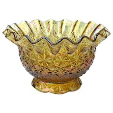 Vintage Smith Glass Company Carnival Glass Bowl