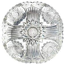 Vintage Brilliant Cut Glass Bowl