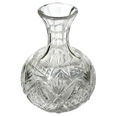 Antique Brilliant Cut Crystal Wine Bottle Decanter