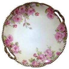 Antique Beyer & Bock Prussia Porcelain Rose Plate