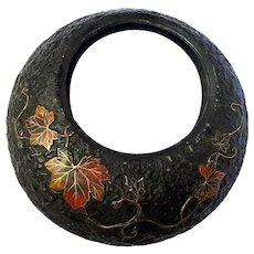 Vintage Japanese Pottery Wall Pocket