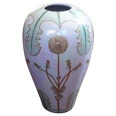 Vintage Hand-Painted Nippon Porcelain Vase