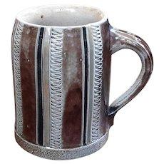 Antique German Fulda Stoneware Mug