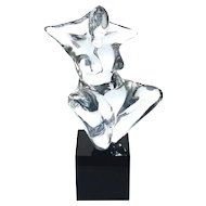 Oscars Zanetti For Oggetti Large Murano Glass Nude Women Sculpture
