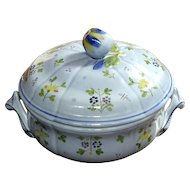 Longchamp French Faience Floral Tureen