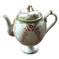 Antique Japanese Moriage Porcelain Teapot