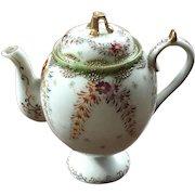 Antique Japanese Moriage Porcelain Teapot