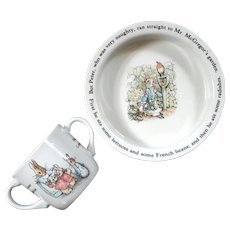 Wedgwood Peter Rabbit Child's Bowl And Cup