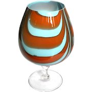 Vintage Venetian Murano Glass Pedestal Bowl