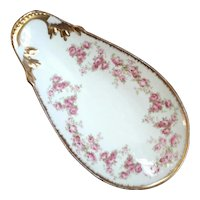 Antique Jean Pouyat French Limoges Porcelain Bonbon Dish